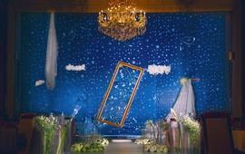 一颗穿着淡银婚纱的流星给这个夜空添加了一丝绚丽
