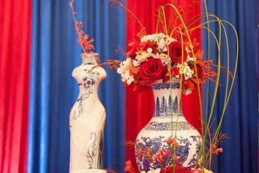 星尚婚典 高端主题婚礼定制 蓝色新中式