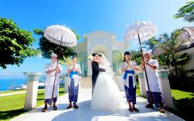巴厘岛蓝点湾教堂婚礼+1日高清