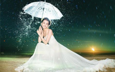 三亚伊莎莉娅婚纱摄影创意夜景案例欣赏