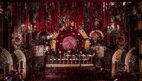 红色欧洲风主题婚礼(四大金刚)