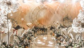三台山庄香槟色系主题婚礼