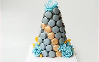 婚礼宴会马卡龙塔甜品桌摆台