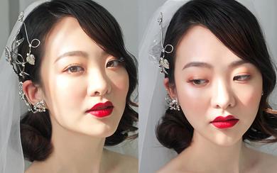 短发新娘也精彩,轻复古,气质红唇