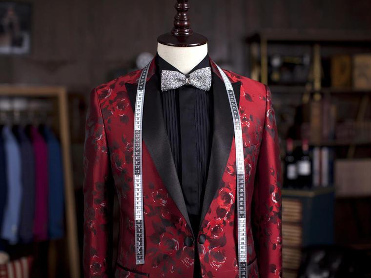 男生红色礼服 全量身定制