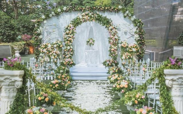 长沙梦臻婚礼打造户外蜜桃婚礼