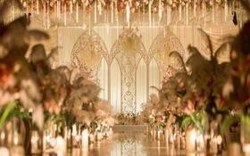 【嫁约婚礼】裸色花艺系列欧式奢华贵族风