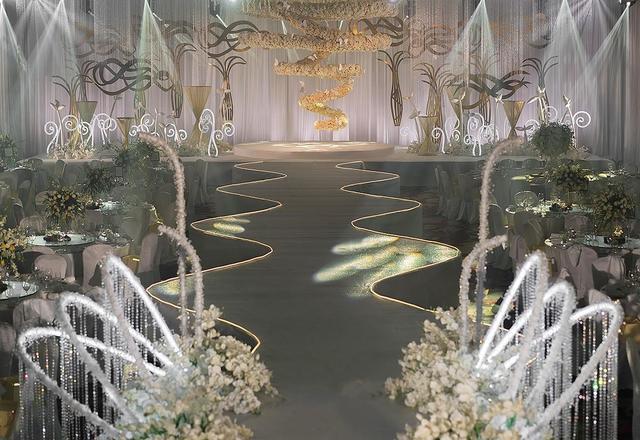 【森镁婚礼】韩式白色香槟色梦幻婚礼《恋》