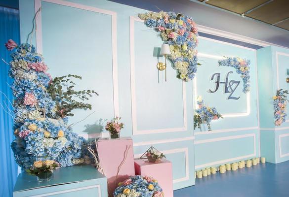 韩式蒂芙妮蓝主题婚礼