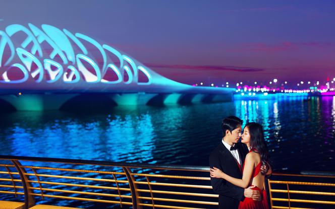 西海岸私家订制/七彩夜景桥/海天一线/环海公路