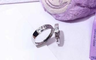 韩版简约原创婚戒情侣戒指支持定制买就送