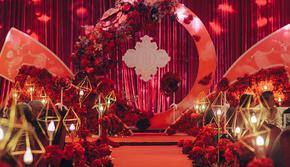 【火爆热销款】玫瑰盛宴——浪漫红金色婚礼