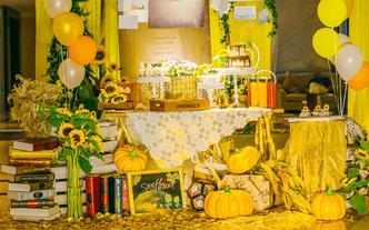 幸福花开婚礼 北欧风格+暖黄色调 给你小清新的爱