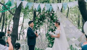 【喜糖婚礼】嵖岈山  白绿/户外/清新