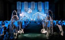 『蒂琳婚礼企划』梦幻蓝色婚礼,几何元素设计