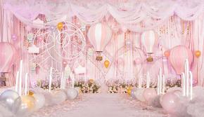 五洲婚礼 Pick浪漫粉色婚礼,乘坐爱的热气球