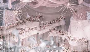 【上海中心】梦幻粉色系/主题定制婚礼/创意大气