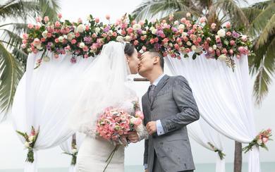 少女心简约粉色户外海岛婚礼