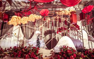 【喜尔婚礼】水墨书法红色新中式-婚约