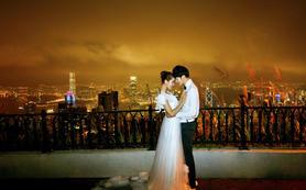 香港之旅婚纱照维多利亚港湾、浅水湾、香港街景
