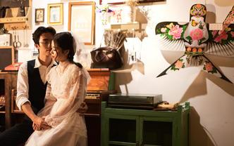 婚纱照+婚礼双机摄影+即拍即有+跟妆