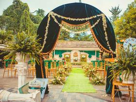 白绿户外庄园浪漫系婚礼