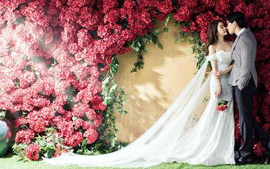 春暖花开-玫瑰园-青岛东海岸婚纱摄影