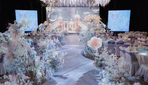 「梦域乐园」梦幻粉紫色婚礼