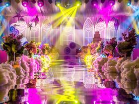 欧式高端浅紫色婚礼 浪漫温馨 个性定制云朵星月 瑞吉