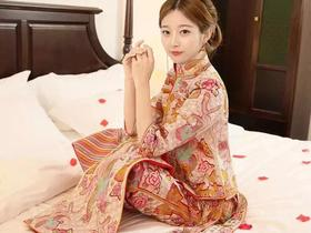 中式刘诗诗同款纯手工刺绣褂皇婚礼礼服