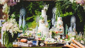 少女自然系花艺户外婚礼绿城喜来登草坪