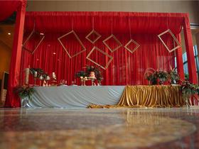 博瑞花园酒店红金色婚礼现场