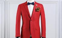 新款丨Cálaos纯羊毛新婚红西服套装