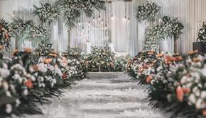 ☀【8月限时团购】☀高性价白绿小清新婚礼❥