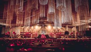 【限时优惠】含四大金刚·一站式·流苏复古红金婚礼