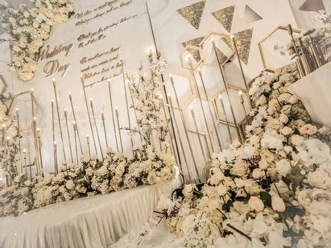 【雅媛婚礼】香槟色婚礼鲜花,下单即送即拍即影