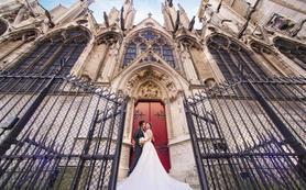 婚游记 法国 巴黎教堂 婚礼套系