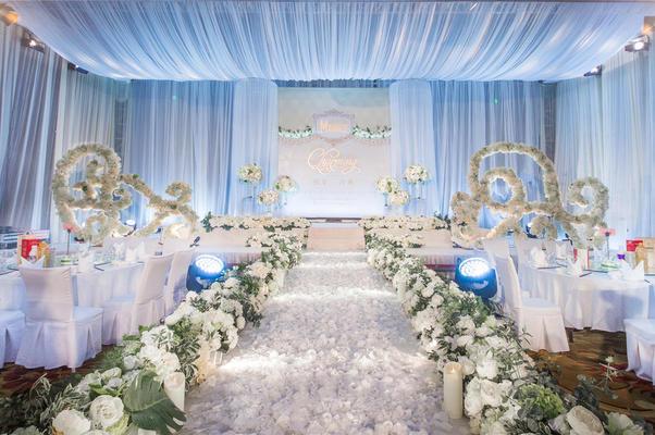 唯美白蓝色主题婚礼