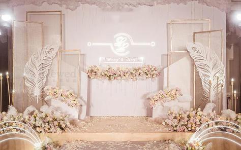 雅媛婚礼《一场简约香槟粉色》