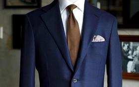 铂爵西装定制   平驳领两粒扣西装