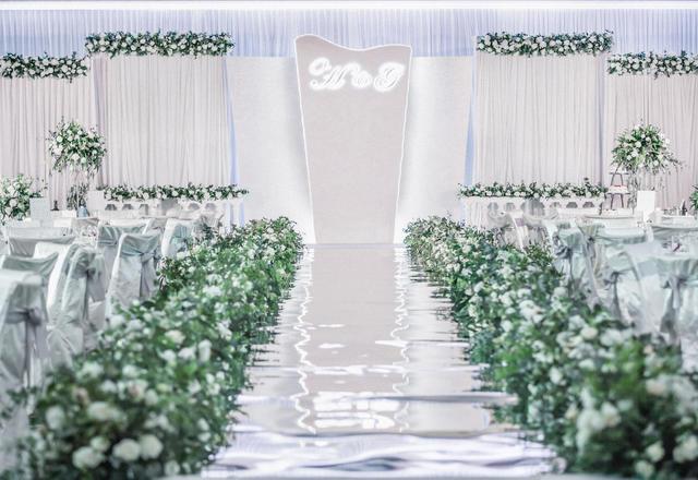 清新简约的韩式婚礼风格