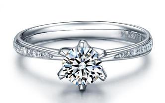 爱的花朵50分钻石女戒群镶版