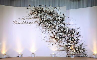 浅色简约的婚礼答谢宴--成就不一样的美