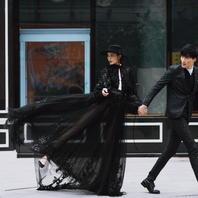 【先拍后付】时尚街拍系列婚纱照+定制相册相框