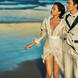 青岛雷克蜜月游艇出海水中婚纱夜景礁石海边2晚包邮