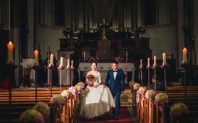 鸿飞婚礼摄影团队  教堂婚礼 摄影单机位