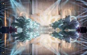 【鹿森婚礼】《莲》羽毛大气炫酷灯光 含四大金刚