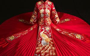 【乐熙 工厂直销】奢华的中式婚礼服 嫁衣的温度