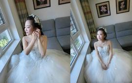 洛可可新娘造型甜美公主草坪婚礼现场