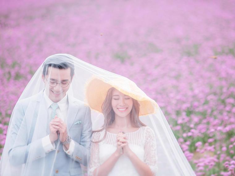 【美乐乐 薰衣草婚纱摄影】有你的地方就有鲜花和幸福